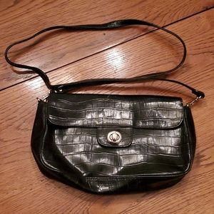 Kim Rogers black purse, long handle